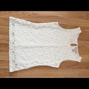 Textured, white top